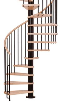 Available throughout the USA, Arke spiral and modular staircase kits can be built in a day by the average do-it-yourself home enthusiast.