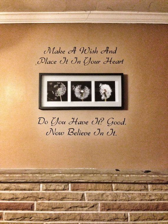 Make A Wish One Tree Hill Quote Vinyl Wall Decal by StickerThis, $15.00
