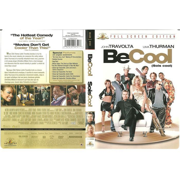 """Paper Label Artwork from DVD Case """"Be Cool John Travolta"""" Label Only no DVD Listing in the Other,DVD,Movies & DVD Category on eBid Canada 