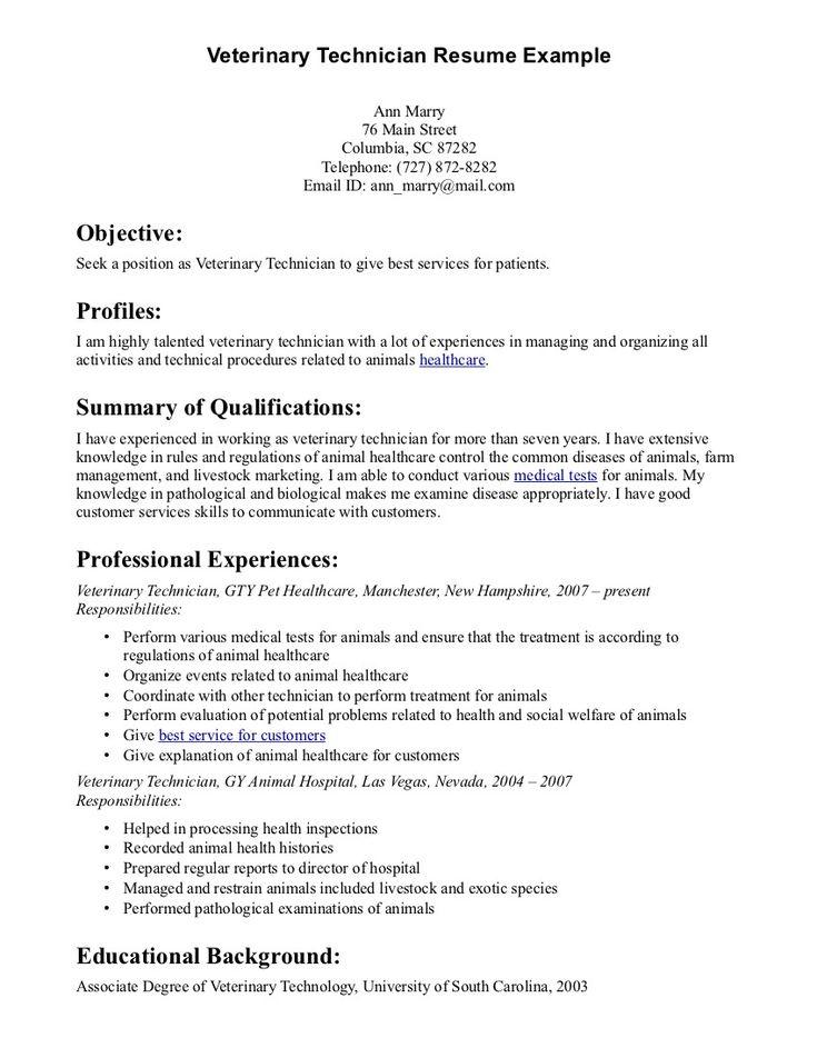 Cv Template Veterinary Student Cvtemplate Student Template Veterinary Medical Assistant Resume Job Resume Samples Resume Skills