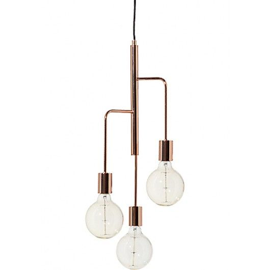 67 best copper images on pinterest copper brass for Suspension 3 branches