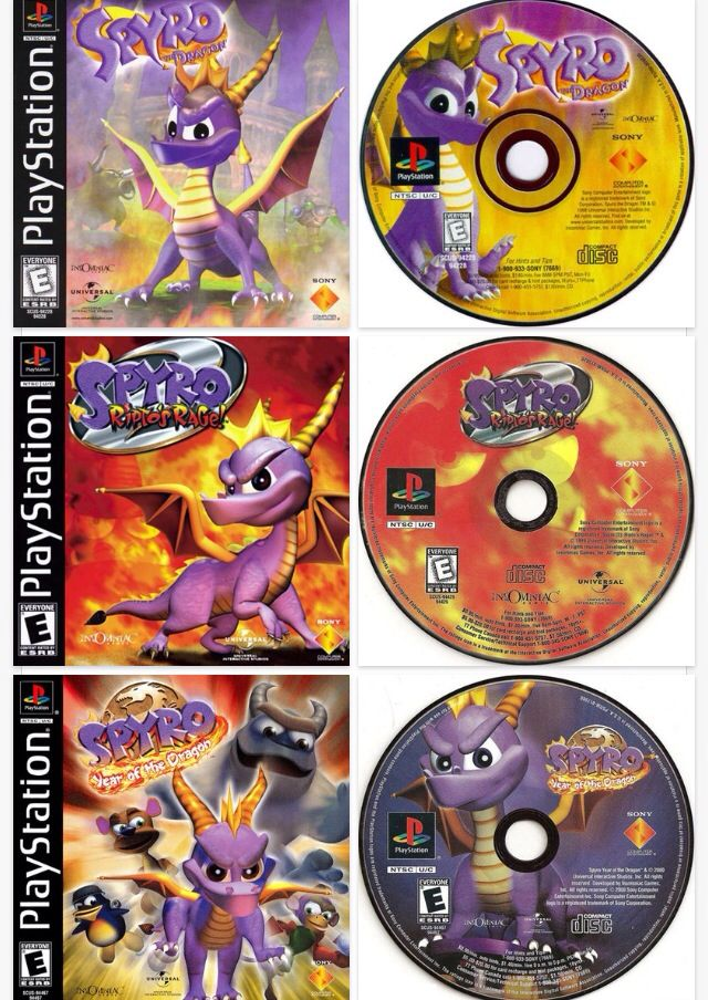 My mom played these when she was a kid. We had her old PlayStation 2 or something and all we played was Spyro. I miss him!!