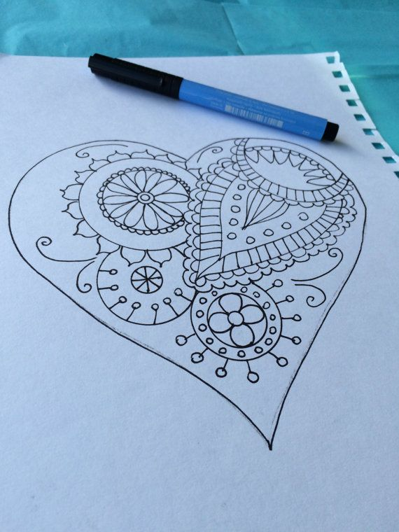 20 best Coloring pages for adults images on Pinterest Coloring - best of valentines coloring pages pdf