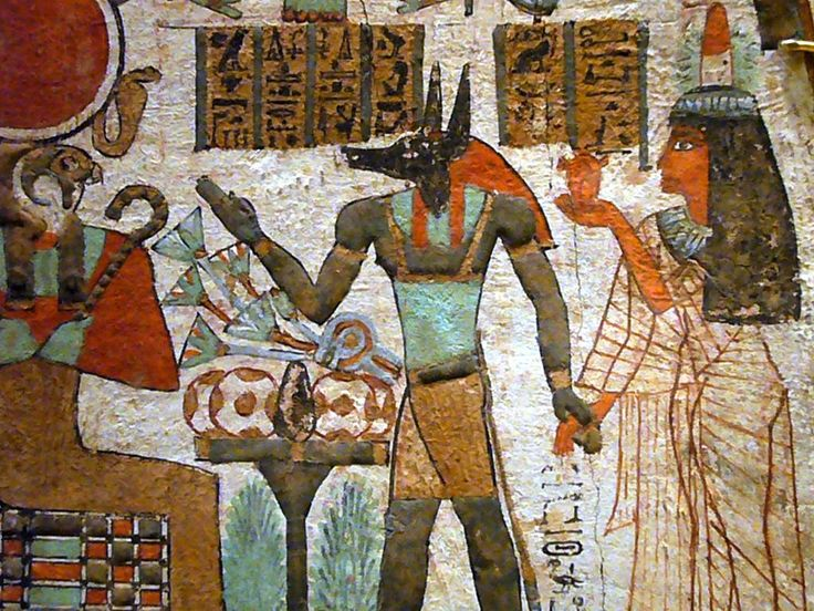 Captivating Ancient Egyptian Wall Painting Depicting Anubis (the Original God Of The  Dead B4 Osiris) Part 14