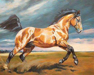 Obraz olejny Konie Zew natury  Sochaczewska 100x80
