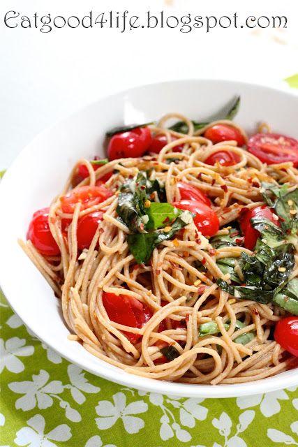 Tomato, Basil and Garlic Whole Wheat Pasta - Eat Good 4 Life