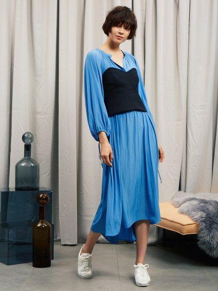 【emmi atelier】ボリュームギャザーワンピース(膝丈ワンピース)|emmi atelier(エミ アトリエ)|ファッション通販|ウサギオンライン公式通販サイト