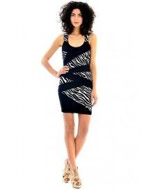 Black Dress With Zebra Print @ £4.99