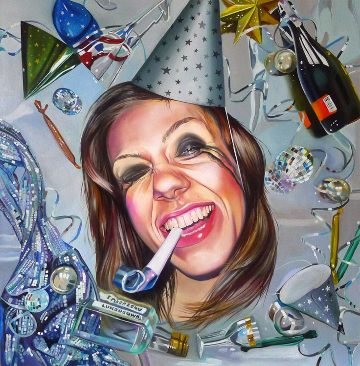 ECSTASY, oil on canvas, 80cm x 80cm, 2015 http://justynakisielewicz.com/praca,147,ecstasy
