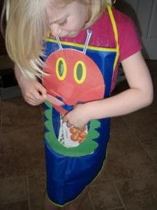 A Hungry Caterpillar Apron you can use to retell the story. :}