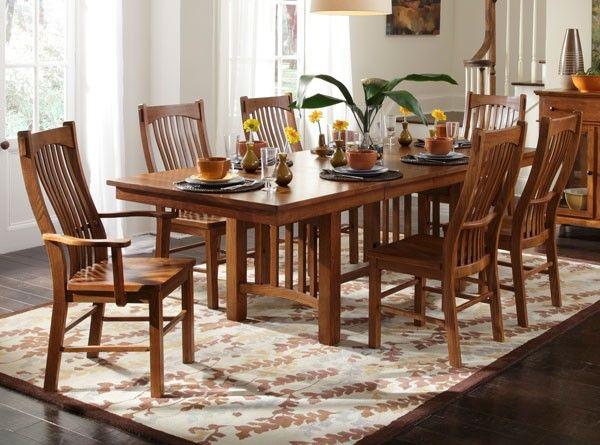Trestle Table   Mission Oak   Laurelhurst Collection