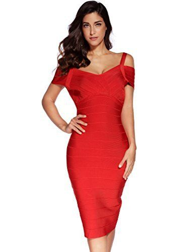 Women's Rayon Strap V-neck Bandage Bodycon Dress – marketplacefinds