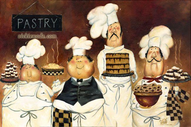 chef art | ... Of: Children Country Wonder Christmas Fat Chef Blog Bio Shop at Etsy