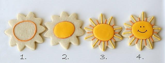 Happy Sunshine Cookies  (Cookie Decorating)