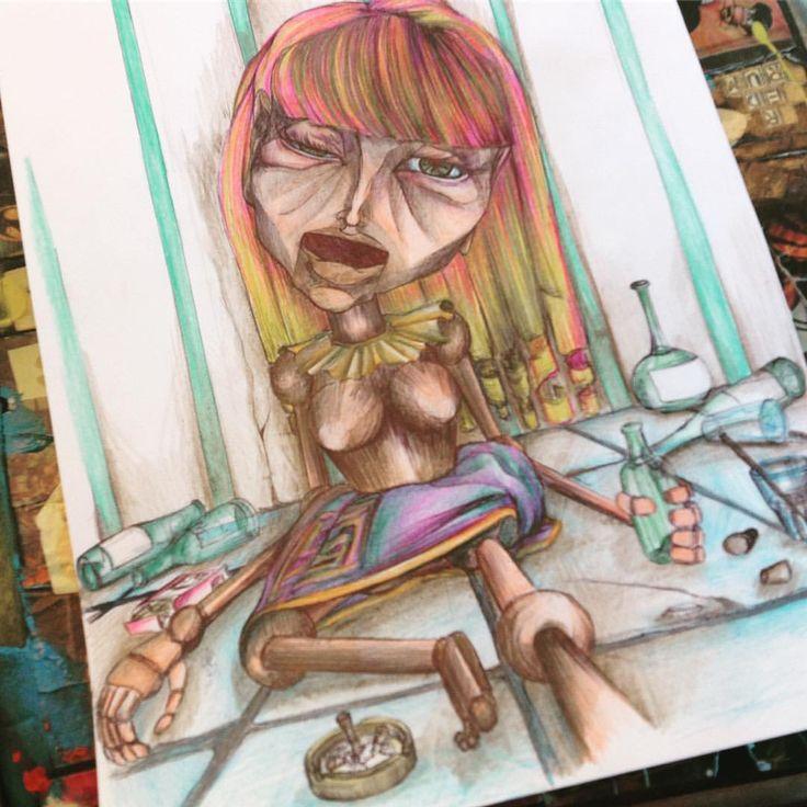 """Mi piace"": 7, commenti: 1 - Silvestri Anastasia (@anast_silvestri) su Instagram: ""So messed up #thestooges #anast #anastleimiparla #marionette #bambole #alcol #used"""