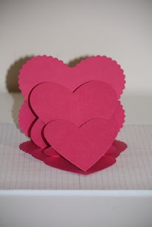 Sheri's Paper Creations: Triple Heart Easel Card Tutorial