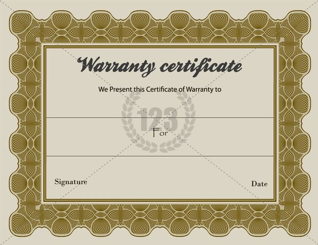 Special Warranty Certificate Templates Free ...