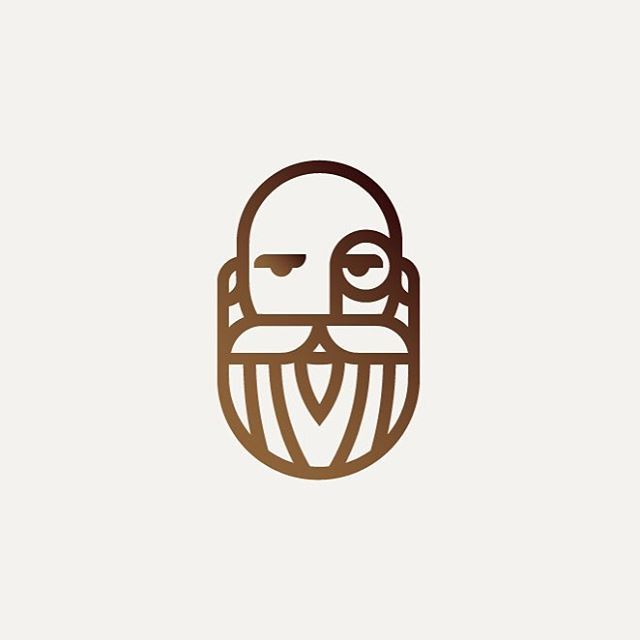 Beard Mark by Stu Ohler @sthlr Show this logo some love at logoinspiration.net/beard-mark