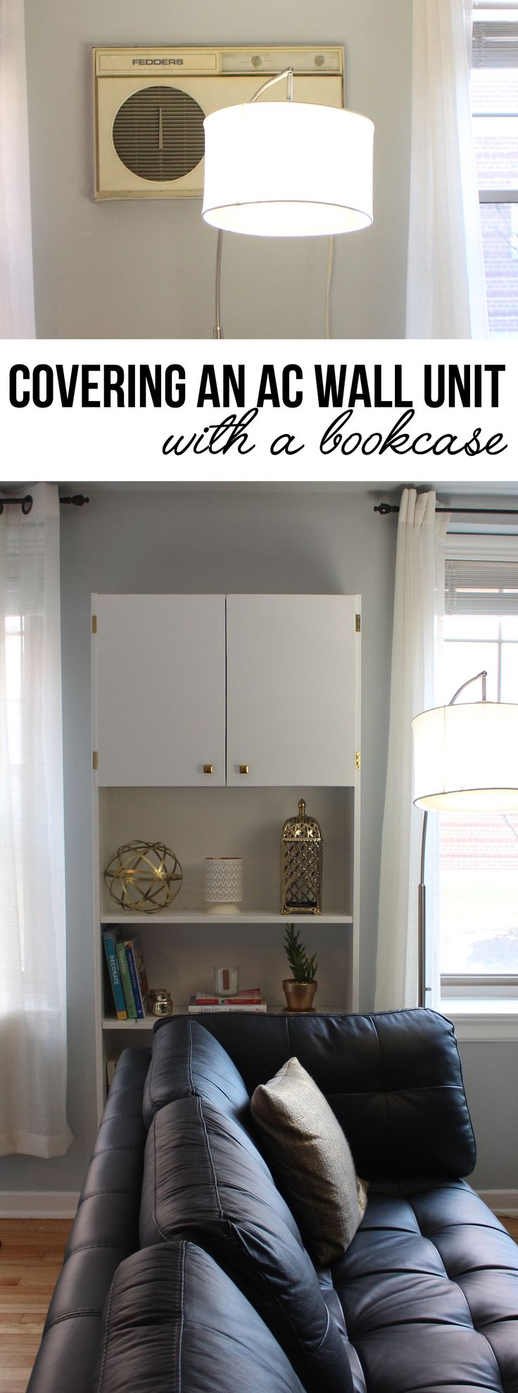 Covering an Air Conditioner Wall Unit: IKEA BILLY Bookcase Hack