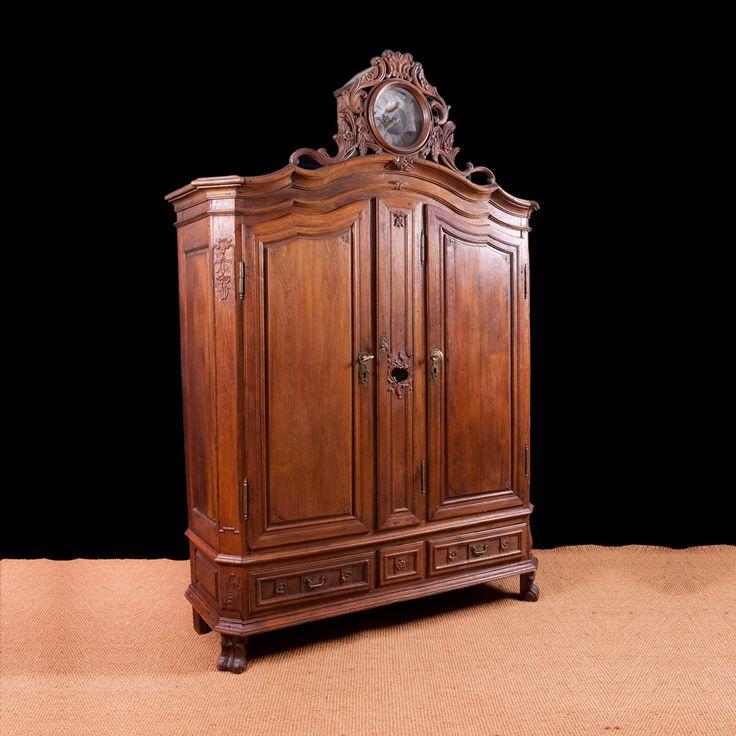 Rare Antique Flemish Armoire in Oak with Case Clock c.1750 - 43 Best Antique Armoires Images On Pinterest Closets, Armoires