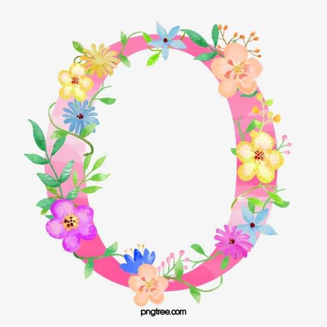 Flowers Letter O Letter Clipart Letter O Png Transparent Clipart Image And Psd File For Free Download Floral Letters Flower Letters Pretty Letters