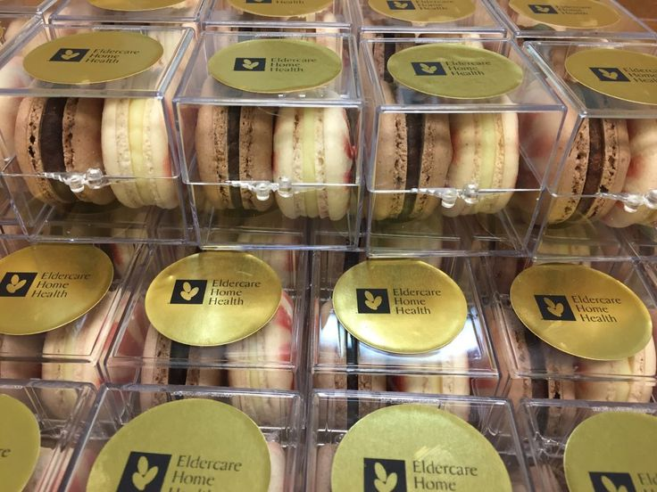 """Eldercare Home Health is happy to have sponsored the North York General Hospital 5 South East holiday party! Everyone received their own little """"Jewel box"""", with fabulous hand made macarons from Butter Avenue"""