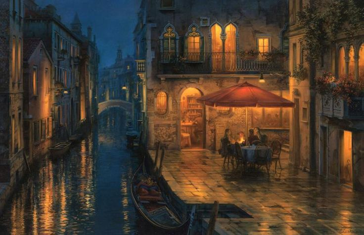 Our special meeting place | Evgeny Lushpin art: Originals and Giclee Prints