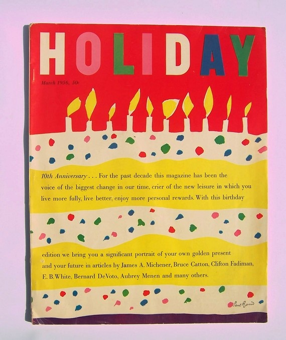 holiday magazine. paul rand cover design. 1956.