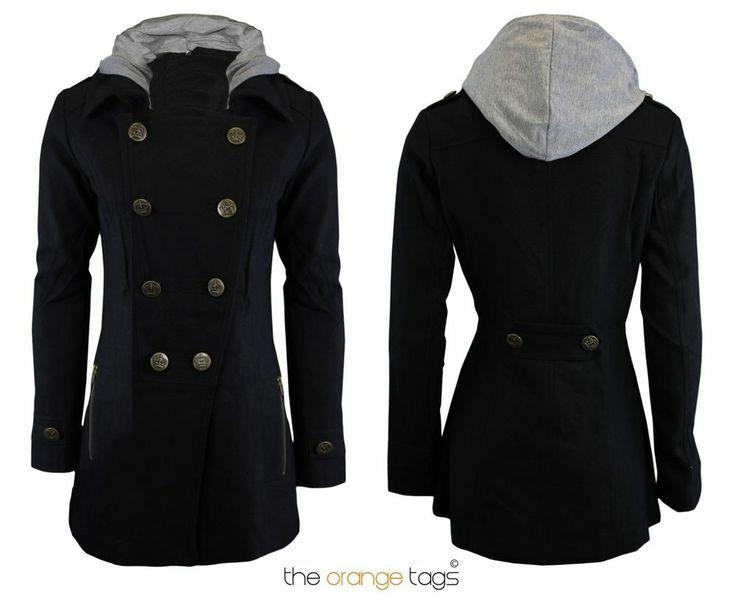 Black hooded jacket ebay