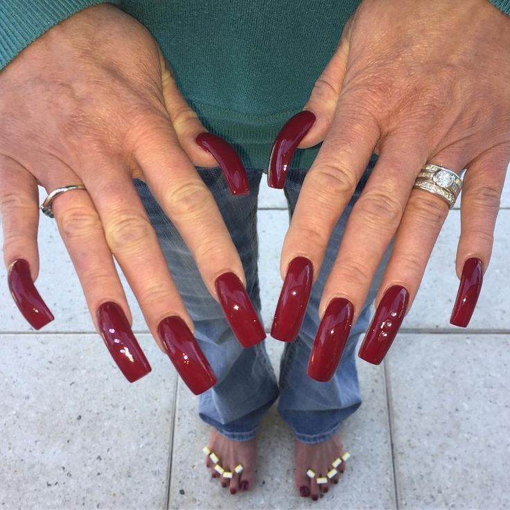 1732 best nails and claws images on Pinterest | Red nails, Acrylic ...