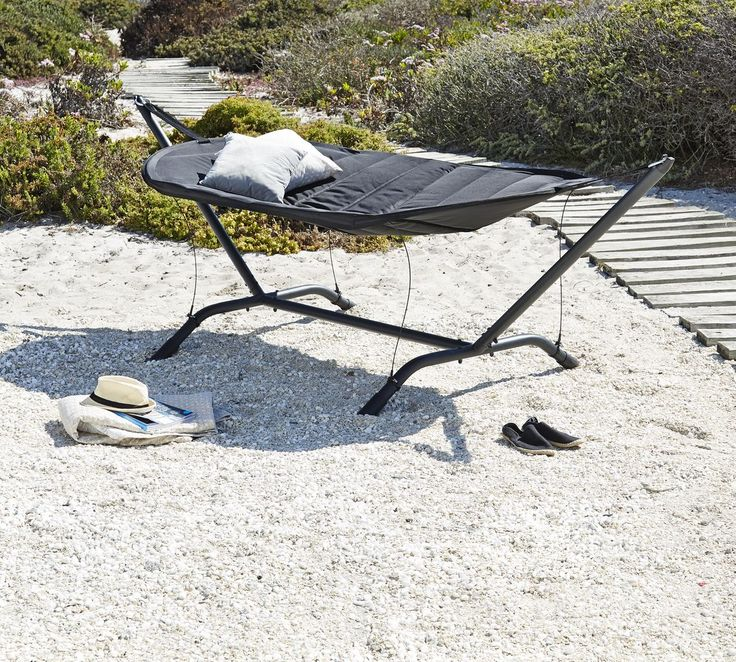Hangmat HOVMARKEN staal/polyester zwart | JYSK #JYSK #Tuin #Tuinmeubelen