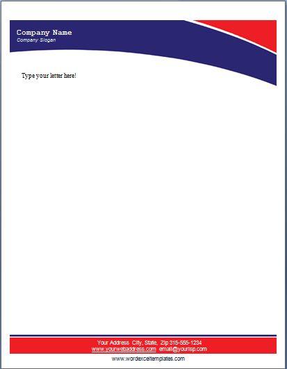 Pinterestu0027teki 25u0027den fazla en iyi Free letterhead templates fikri - business letterhead template free