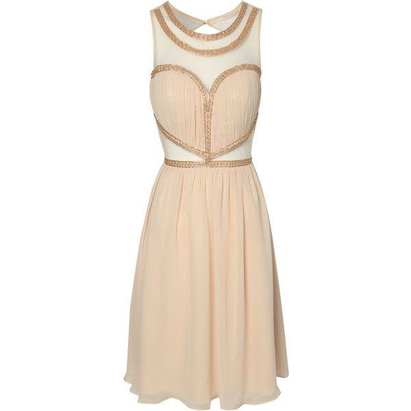 Jane Norman Embellished Mesh Cut Out Dress