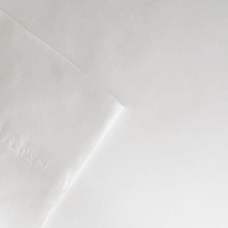 Sleep Philosophy 320 Thread Count Cotton Tencel Sheet Set, White