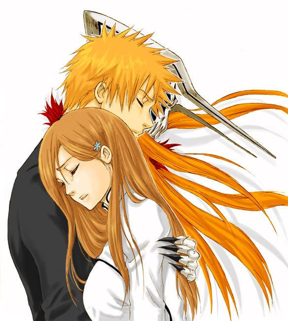 Orihime and Ichigo - They have to go together, their so cute <3 @blackswanballet
