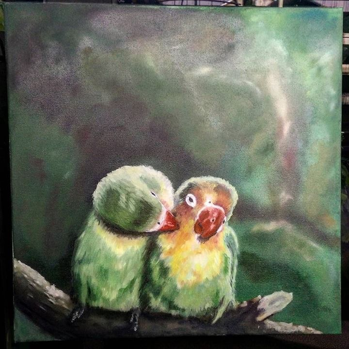 Expression of love in painting. Nature and love and we've got it all. It's a pleasure to look at this colorful new oil painting _ @lsdworkshop