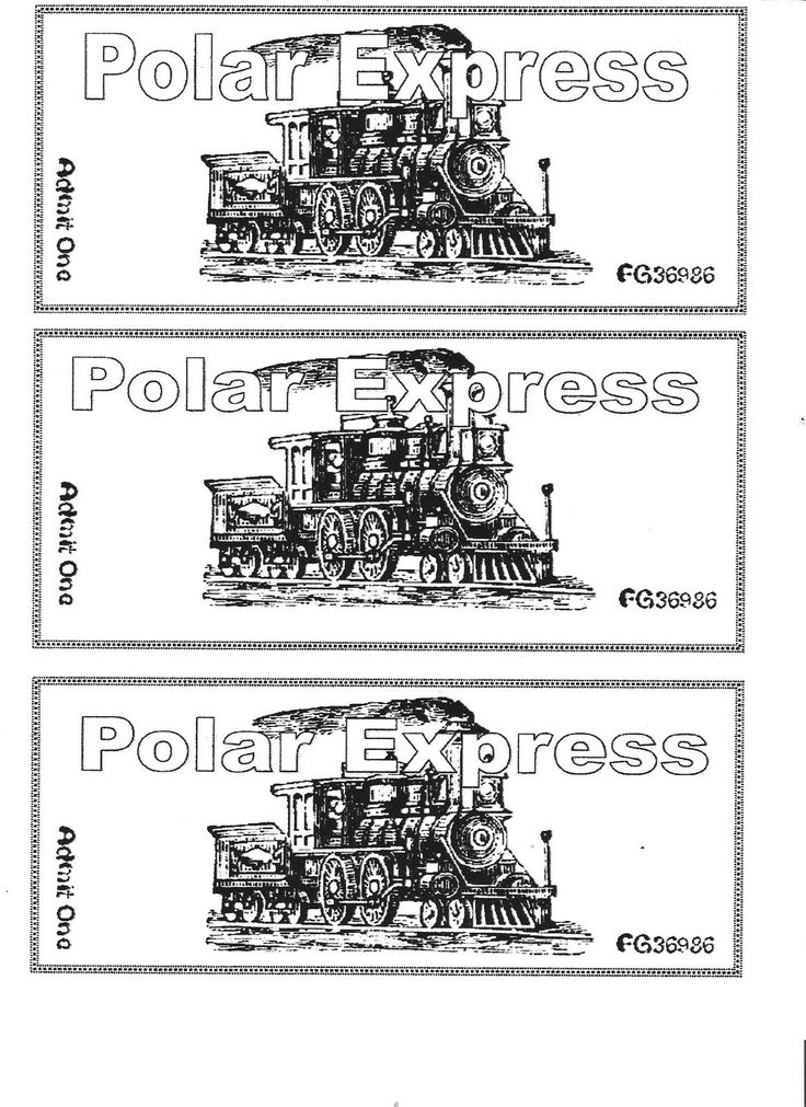 25 best ideas about Polar Express Tickets – Ticket Template for Pages