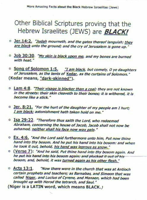 Black people are apart of the chosen people the bible speaks about.