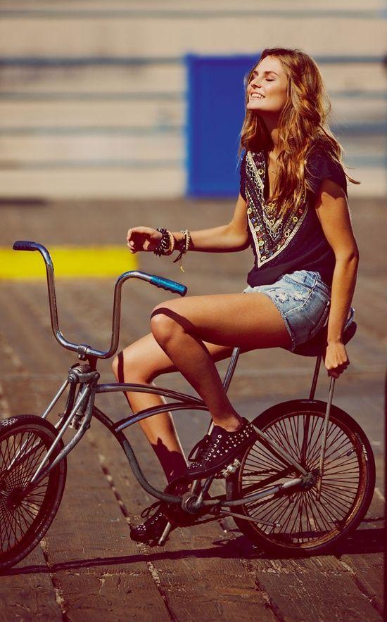 #girl mit ihren #bmx #bike - finde mehr @ #bmxware