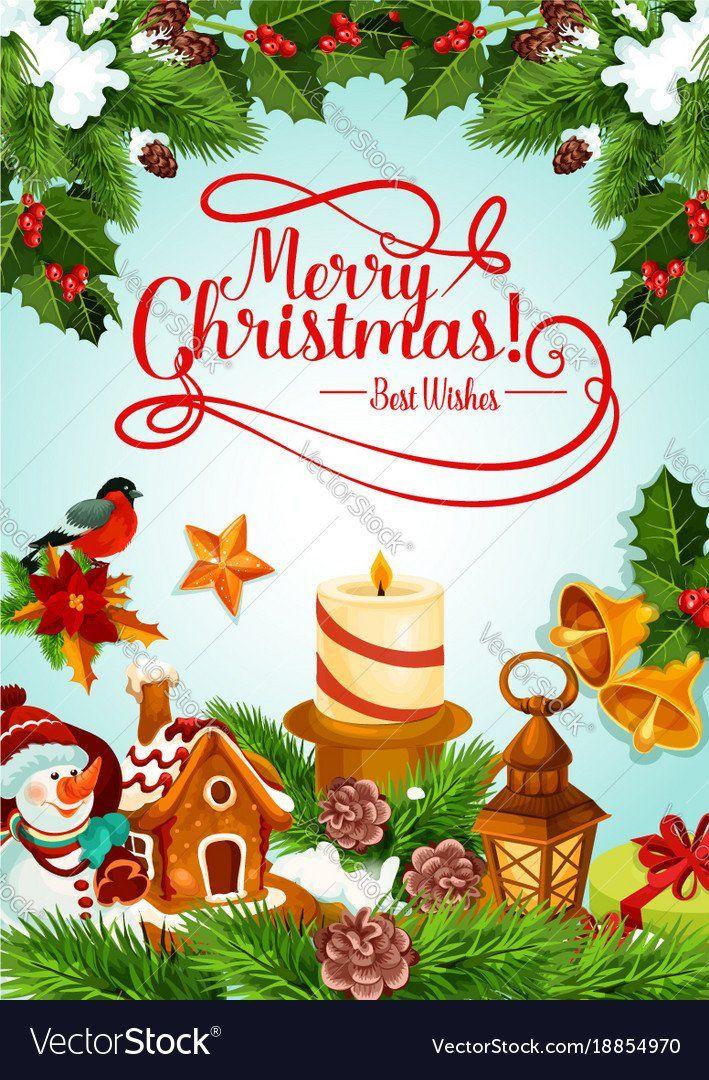 Christmas Greeting Card Templates Luxury Christmas Holiday Candle And Xmas Tree Ca Christmas Greeting Card Template Christmas Card Template Christmas Greetings