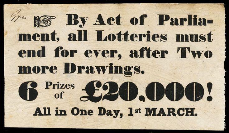 Last English Lotteries, 1826 | Sheaff : ephemera