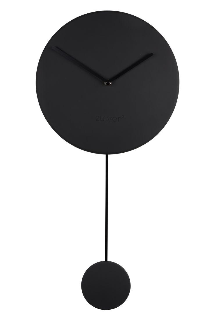Minimal clock - Black #Clock#Orloge#Uhr#klok