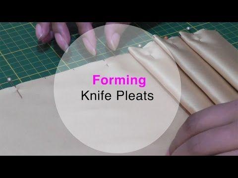 how to create knife pleats