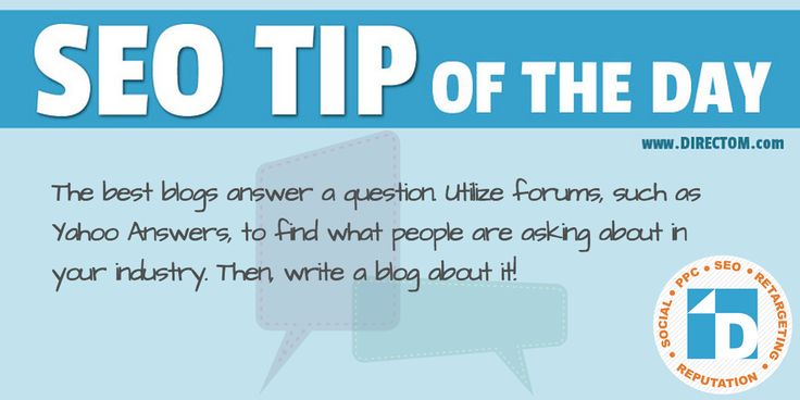 Another #SEO tip of the day about #blogging.  Stay tuned for more! :)