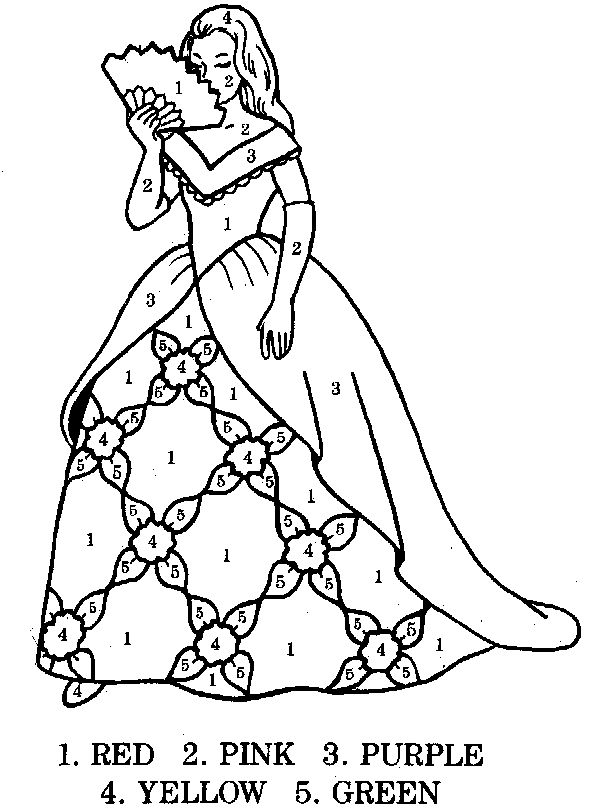 princess coloring by numbercoloring by the number pictures of princessfree princess pictures color number for children kids boys girlssave picture