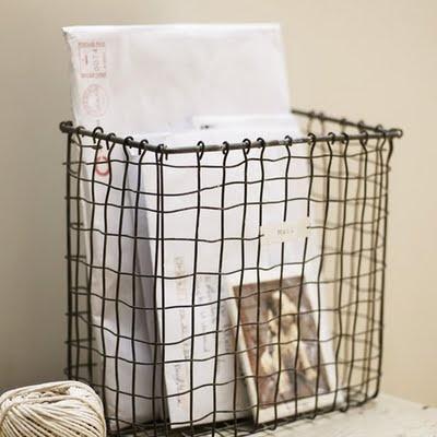 Wire Basket. Vintage Wire BasketsMetal BasketsStorage ...