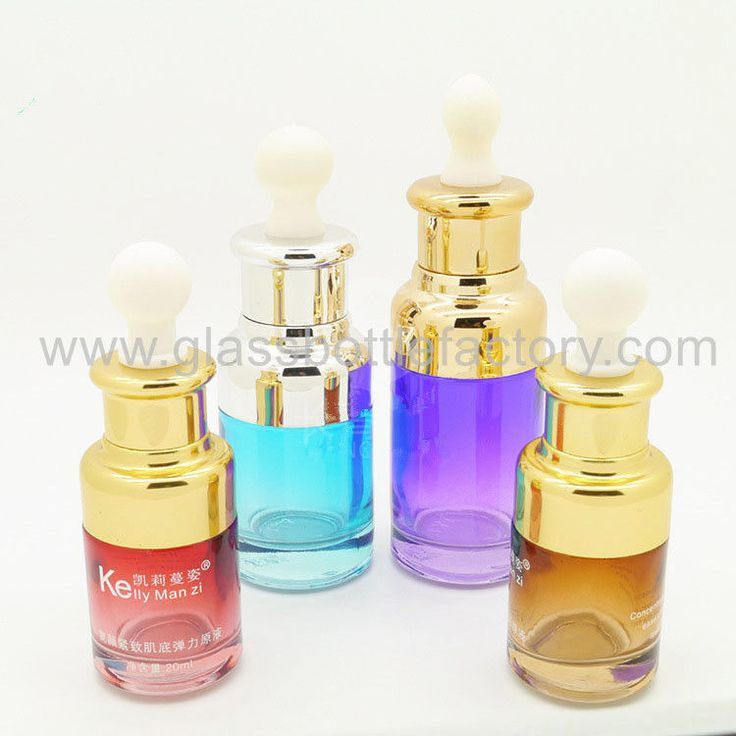 Color Painting Glass Essence Bottles With Fashional Dropper from China