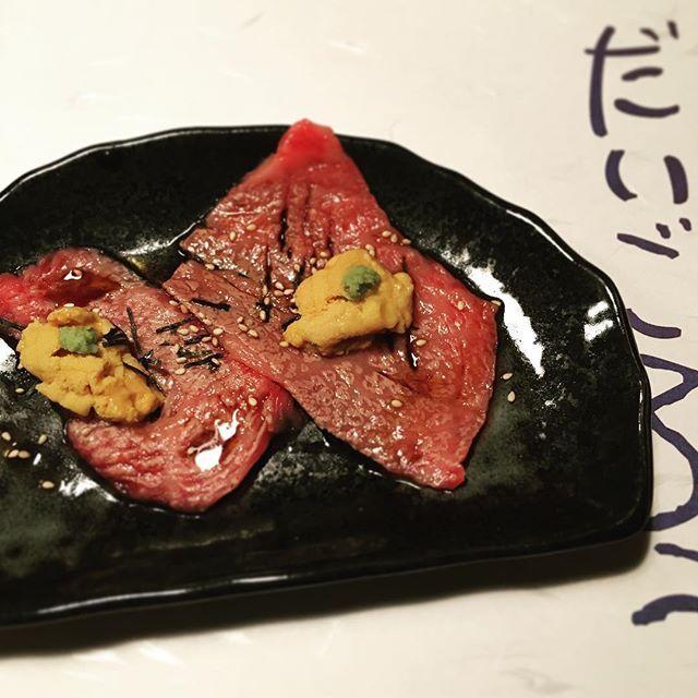 お肉たち、美味しすぎたよ😂💘 写真撮るより食べることに夢中になるやつ😽 . #松坂牛 #赤身肉 より #サーロイン #胃もたれしらず  #肉 #肉女子 #店員さん#かわいい女子いっぱい #恵比寿 #だいごろう #極上肉料理 #おいしい #金夜