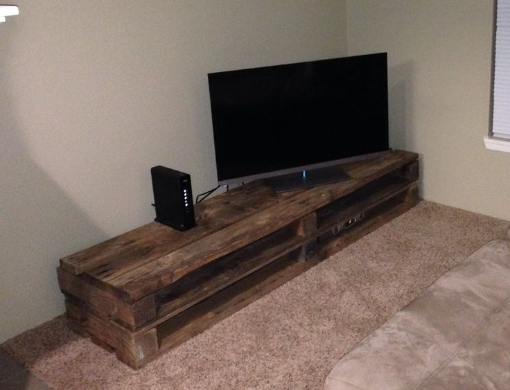 tv console made of pallets - Google Search