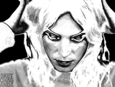 Alexa Chung gif by Sketchaganda Pop art